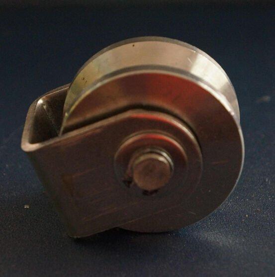 "2 Pack 2""inch 970lb Sliding Gate Roller Steel U Type Wheel Track Rail w/ Bracket"