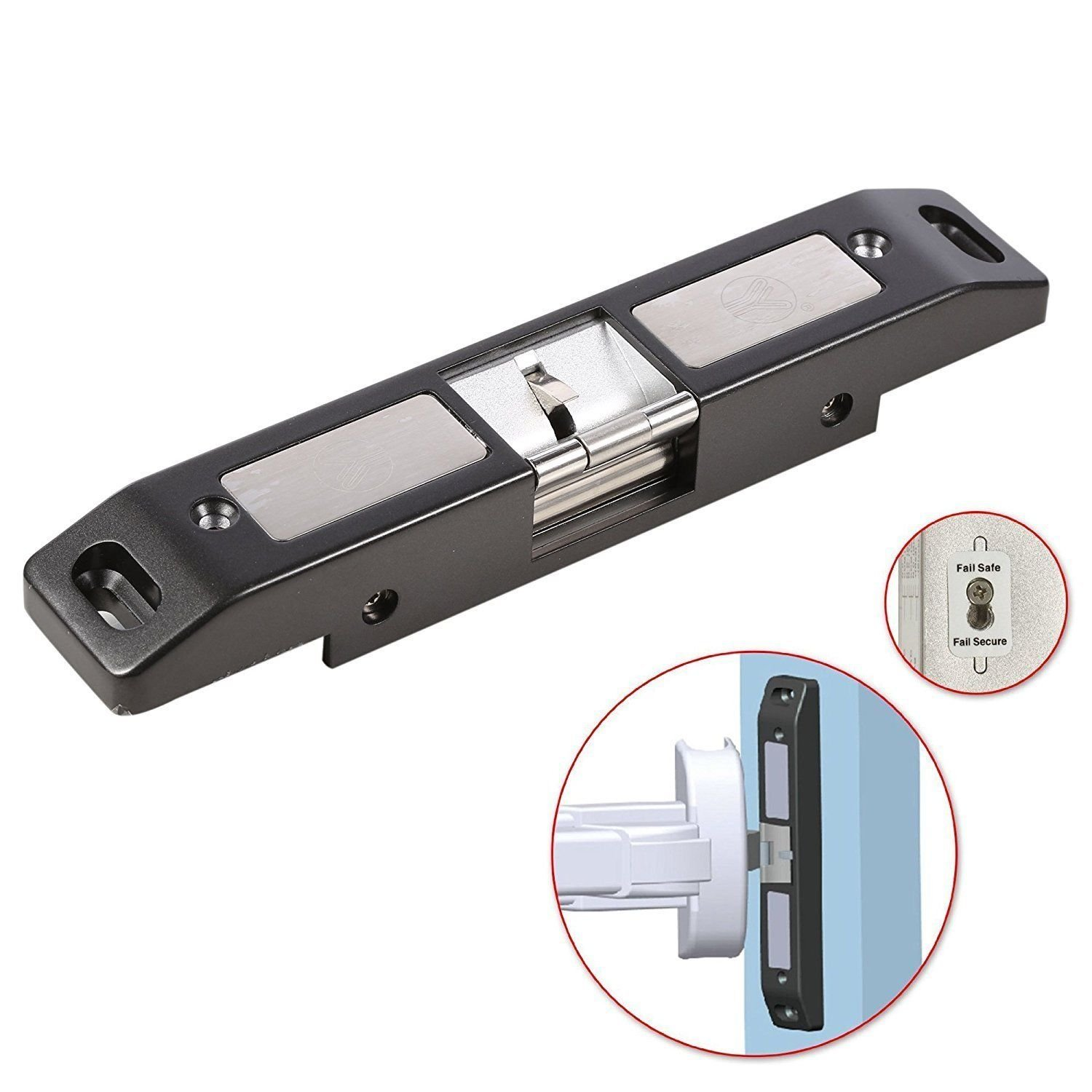 1000KG/2200LB 12V Electric Strike Lock for Push Panic Bar Exit Device Emergency