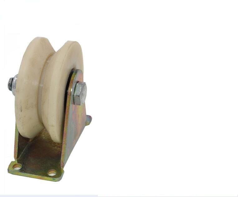 """NSEE 3.5"""" inch 2 Pack Sliding Gate Nylon Guide Roller Wheel 88.9mm Groove """"V"""""""