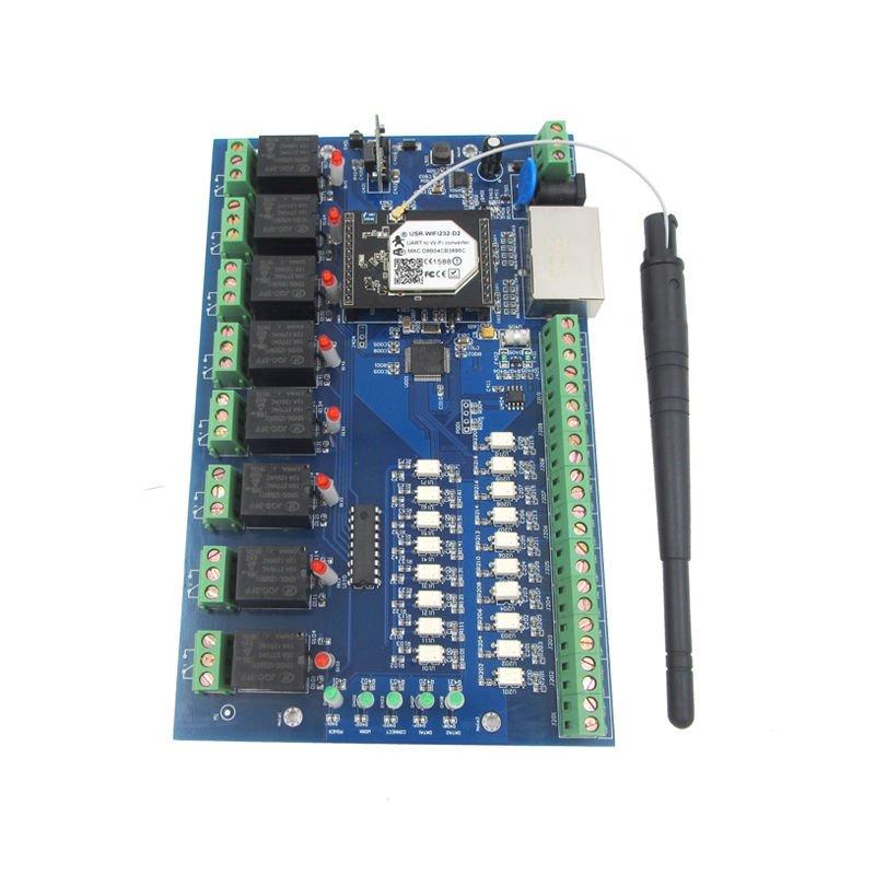 USR-IO88 RJ45/LAN/IP Network Relay Control Board Module 8 Channel WiFi Remote