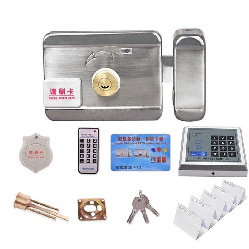 YD001 RFID 125KHz/13.56MHz ID/IC Card Reader Access Control Gate Lock Keypad Key