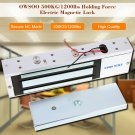 OWSOO 12/24V 500KG/1200LBS Electric Magnetic Gate Lock Door Access Latch Light