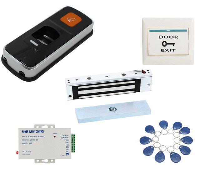 WG26 RFID Biometric Fingerprint EM Card Reader 180KG Electric Gate Lock Doorbell