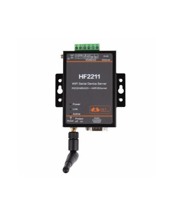 HF2211 Industrial Modbus Serial RS232/RS485/RS422 WiFi/Ethernet Converter Module