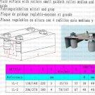Rongrolling 1L-2 Sliding Gate Upper Guide Nylon Roller w/ Bracket M35X53 Screw