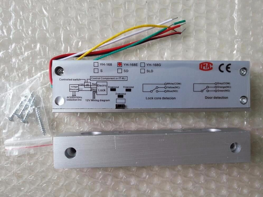 YH168 RFID 12VDC 800KG Electric Door Bolt Lock Built-in Timer Access Control