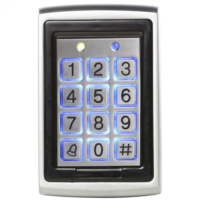 12VDC 125Khz RFID Metal Backlight Access Control Keypad EM ID Card/Keytag Reader