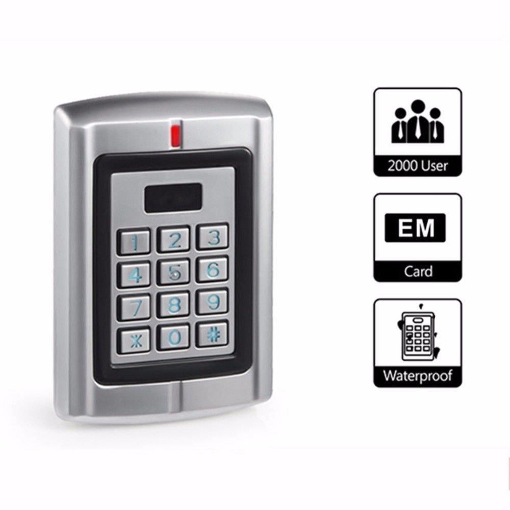 12/24V WIG26 Waterproof Metal Door Access Keypad RFID 125K Proximity Card Reader