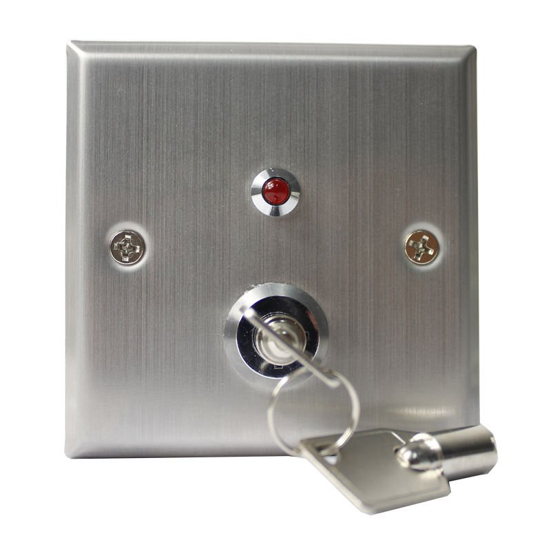 12V DC Stainless Steel Exit Release Push Button Switch Door Key Sensor NC/NO/COM