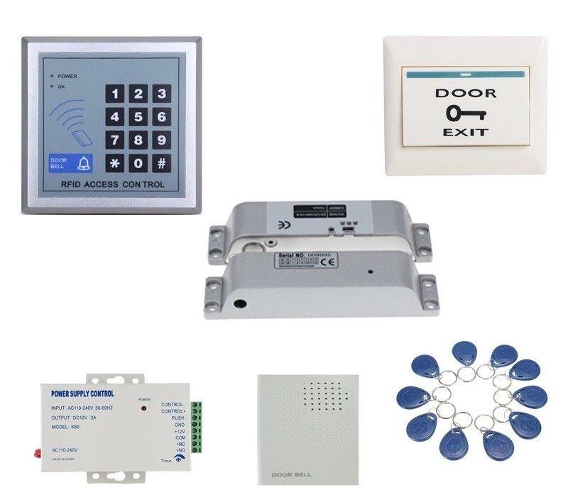 125Khz RFID Glass/Wood Door Access Control Drop Bolt Strike Magnetic Gate Lock