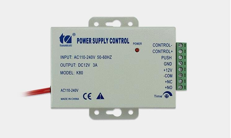 Power Supply 110/240VAC to 12VDC 3A Surge Supressor Access Control Magnetic Lock