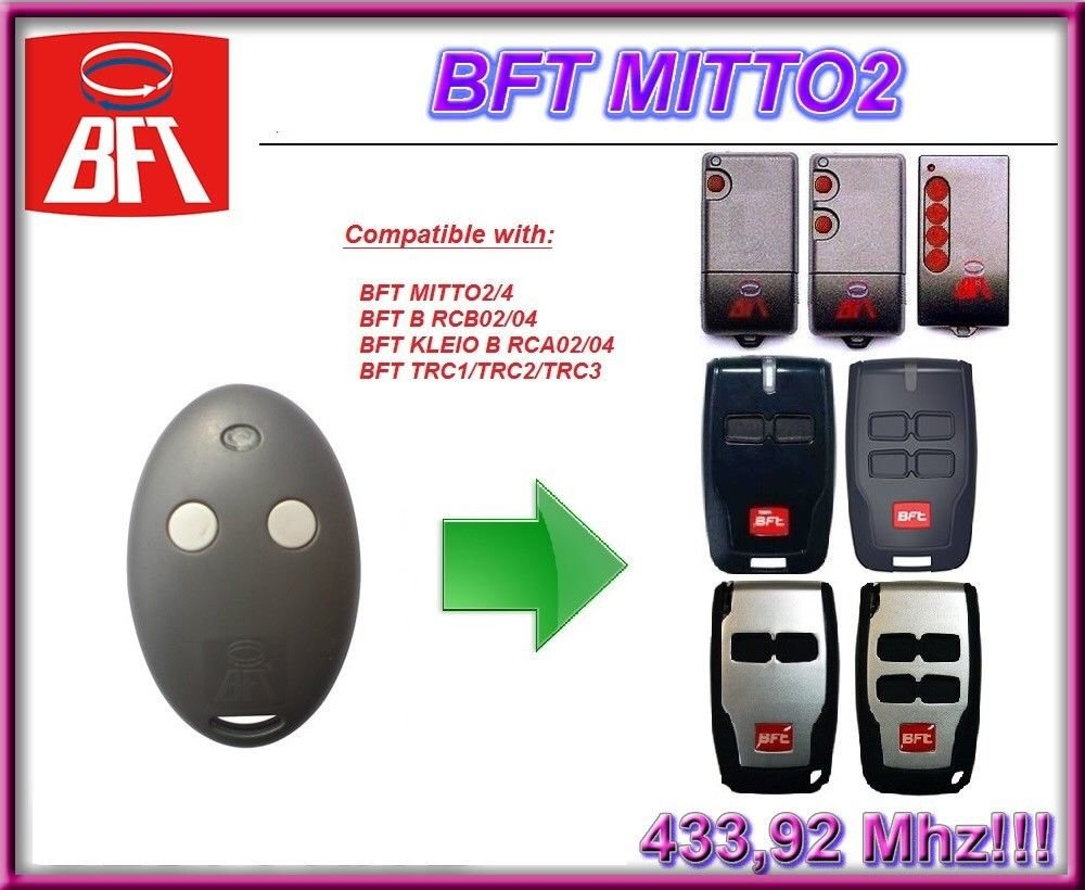 BFT Mitto 2 Two Button Remote Control Transmitter RCB02 / RCB04 Gate, Garage