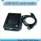 ZC-02 125KHz RFID EM/ID IC 13.56MHz Proximity Tag Card Keyfob Tag USB Reader