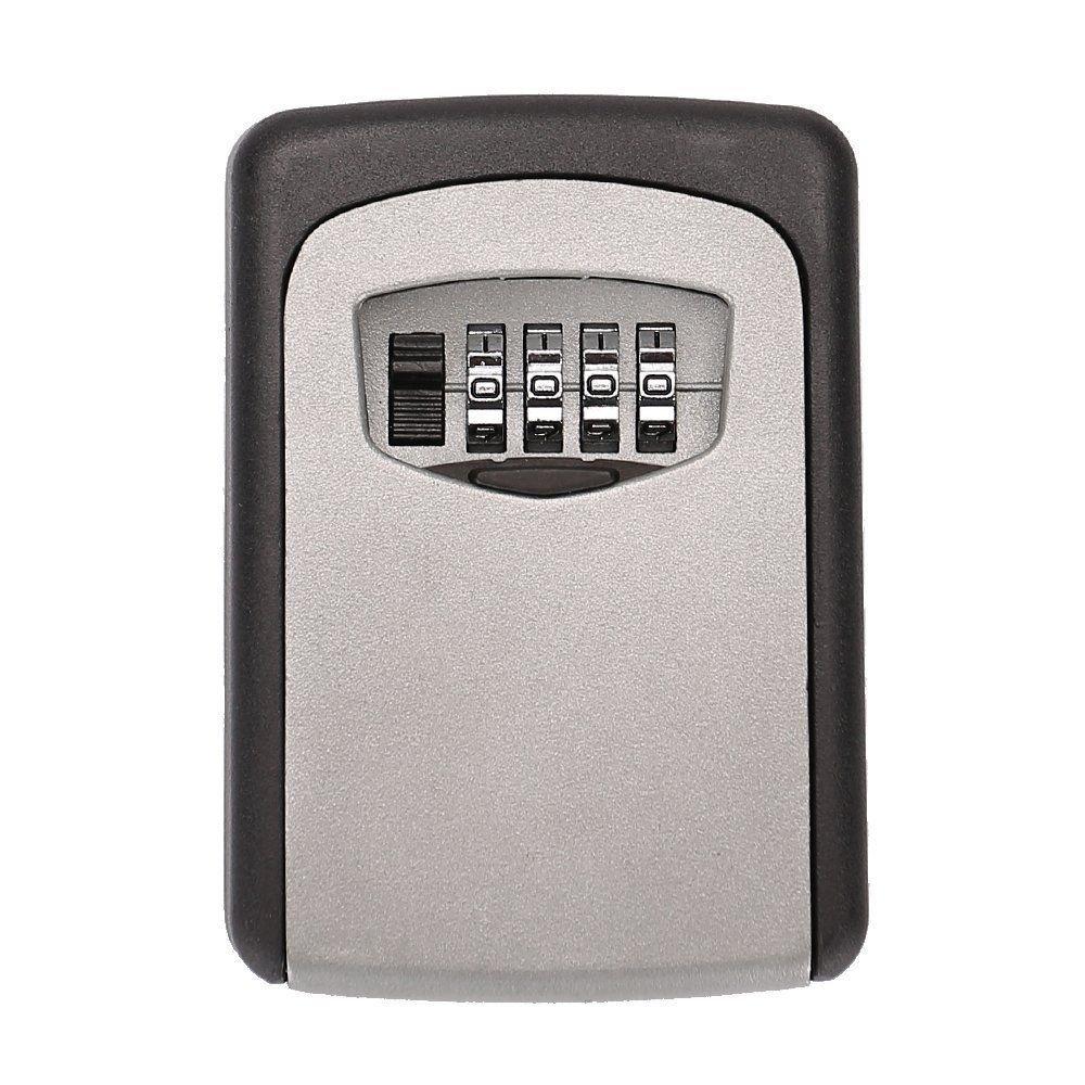 Wall Mount Key Lock Box 4-Digit Combination Weather Resistant Steel In/Outdoor