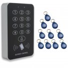 J1 RFID Proximity Entry Door Lock Access Control Keypad 500 Users w/ 10 KeyTags