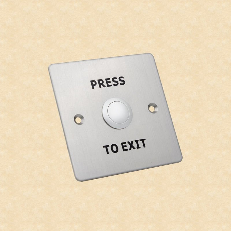 12V Stainless Steel Exit Push Button Switch for Door Access Control System NC/NO