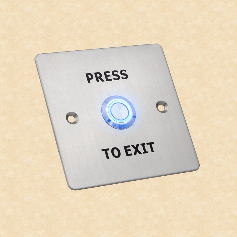 12V Stainless Steel Exit Push Button Switch Door Access Control System Lighted