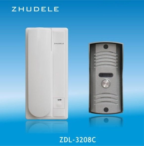 300m Wired Audio Telephone Intercom Doorbell Chime Gate Door Lock Access Control