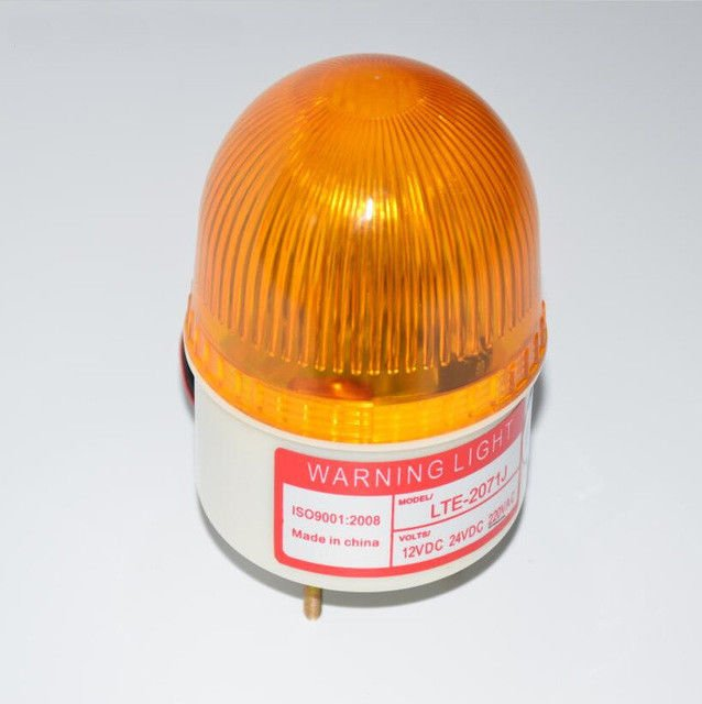 NSEE LTE207Y 12VDC Strobe Siren Lamp Flashing Light Gate Door Opener IP54 Garage