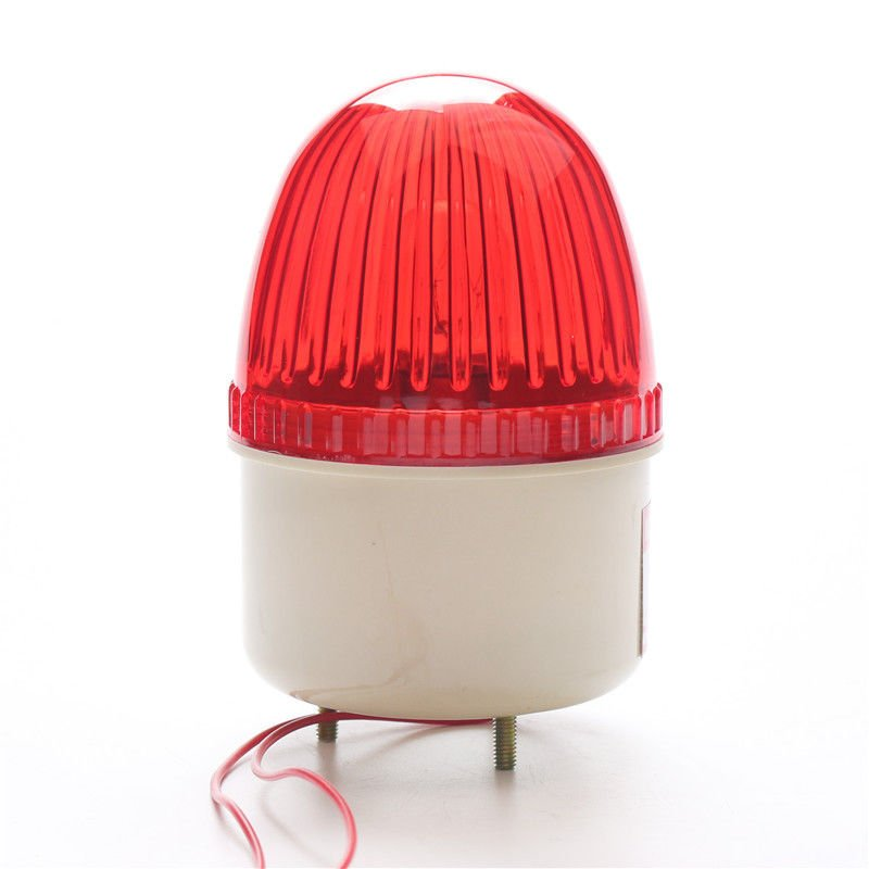 NSEE LTE207 12V DC Strobe Siren Lamp Flashing Light Gate Door Opener IP54 Garage