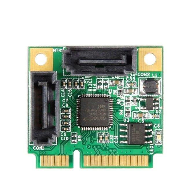 Marvell 1061R-2I Mini PCIe To SATA 3 Support 6Gbs 2x Internal Port RAID Control