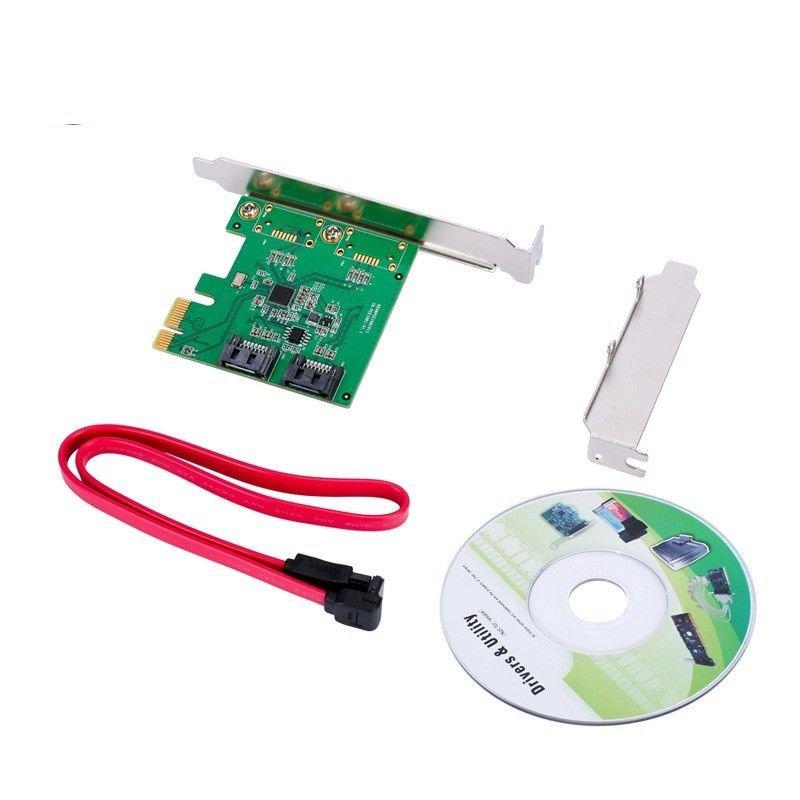 NSEE 1061R-2IR 2 Port SATA III PCI-e 2.0 x1 RAID Card Controller Board Bracket