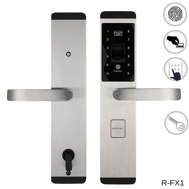 NSEE R-FX1 Electronic Stainless Steel RFID EM/ID Card  Fingerprint Door Lock