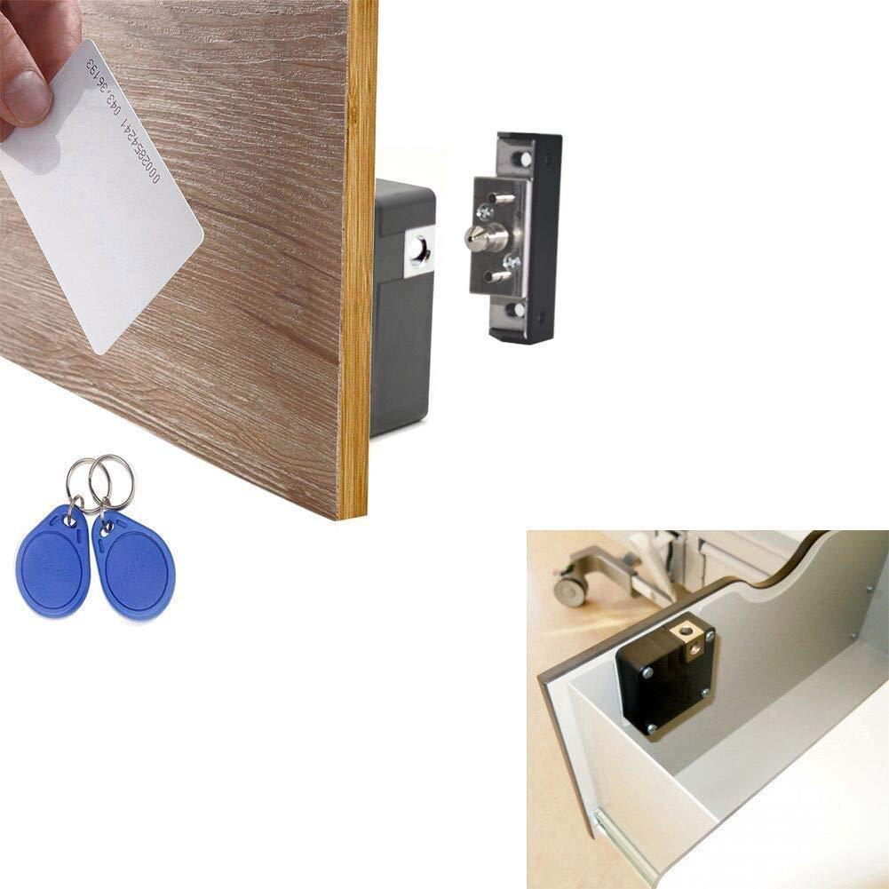 NSEE Hidden Electronic Cabinet Lock Kit Set Drawer Locker, RFID Card/Tag Entry