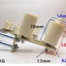 6L-4 70mm x 50mm Sliding Gate Upper Guide Nylon Roller w/ Electroplated Bracket