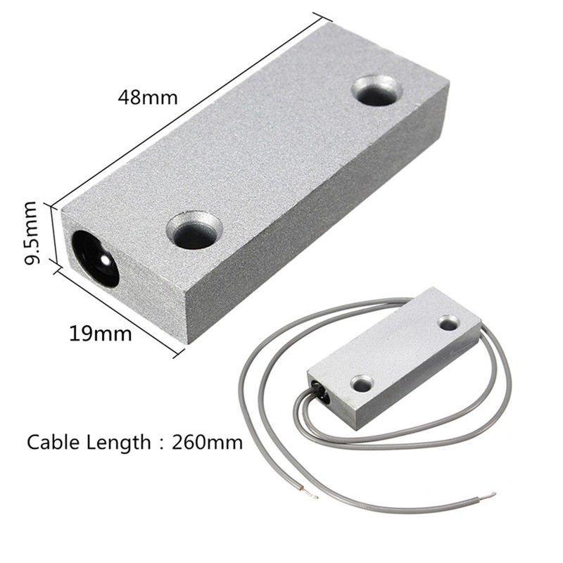 MC6 NO Metal Magnetic Door Sensor Switch Alarm Access Control Garage Waterproof