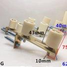 6L-1 43mm x 40mm Sliding Gate Upper Guide Nylon Roller w/ Electroplated Bracket