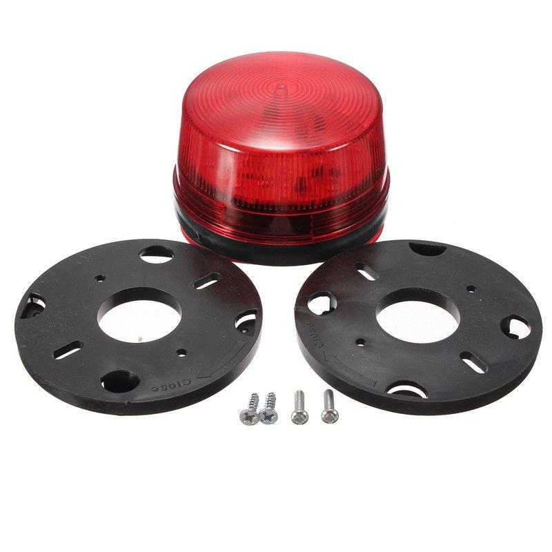 NSEE G506SR 220V AC LED Bulb Alarm Strobe Lamp Light Gate Opener Waterproof IP67