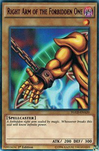 Right Arm of the Forbidden One (YGLD)