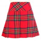 Waist 32 Ladies Royal Stewart Tartan Skirt Scottish Mini Billie Kilt Mod Skirt