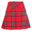 Waist 36 Ladies Royal Stewart Tartan Skirt Scottish Mini Billie Kilt Mod Skirt