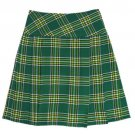 Traditional Irish National Tartan Highland Scottish Mini Billie Kilt Mod Skirt 28 Size
