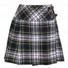 Ladies Dress Gordon Tartan Kilt Scottish Mini Billie Kilt Mod Skirt Size 38
