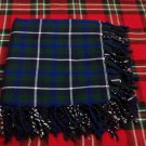 Traditional Blue Douglas Tartan Fly Plaid Highland Scottish Kilts Flashes Garters