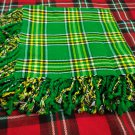 Traditional Scottish Wear Irish National Tartan Traditional Purled & Fringed Fly Plaid