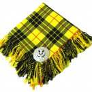 Traditional Scottish Wear Macleod of Lewis Tartan Traditional Purled & Fringed Fly Plaid