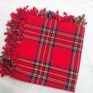 Traditional Scottish Wear Royal Stewart Tartan Traditional Purled & Fringed Fly Plaid