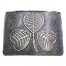 Scottish Highland Kilt Belt Buckle Irish Shamrock High Quality Antique Finish