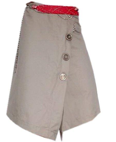 48 Size Velcro Wrap Style Buttons Wrap Skirt Steampunk Kilt Pleated Skirt