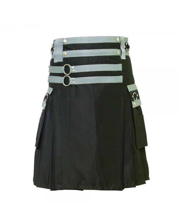 34 Size Scottish Highland Stylish Men's Cargo Kilt
