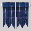 Traditional Pride of Scotland Modern Tartan Kilt Hose Flashes with Garters