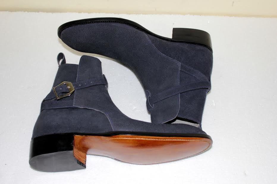 UK Size 8 Men's Navy blue Suede jodhpurs boot Men�s Navy blue ankle suede boot