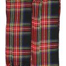Men's Kilt Fly Plaids Scotland Black Stewart Tartan 3 1/2 Yards/Piper Kilt Fly Plaid
