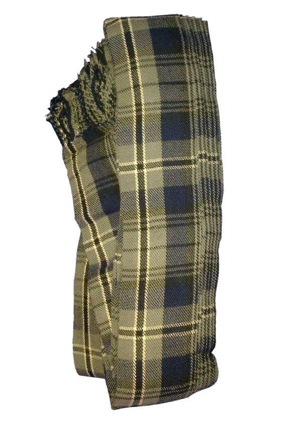 Men�s Kilt Fly Plaids Scotland Hamilton Grey Tartan 3 1/2 Yards/Piper Kilt Fly Plaid