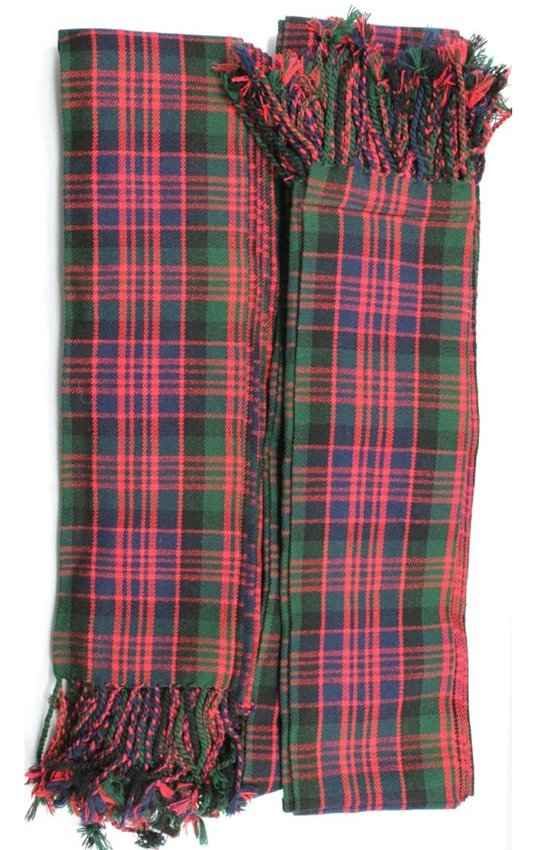 HIGH QULITY SCOTTISH PIPER PLAID Macleod Tartan FLY PLAIDS TARTAN OPTION OF 4 COLOURS