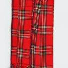 T C Men's Kilt Fly Plaids  Royal Stewart Tartan 3 1/2 Yards/Piper Kilt Fly Plaid